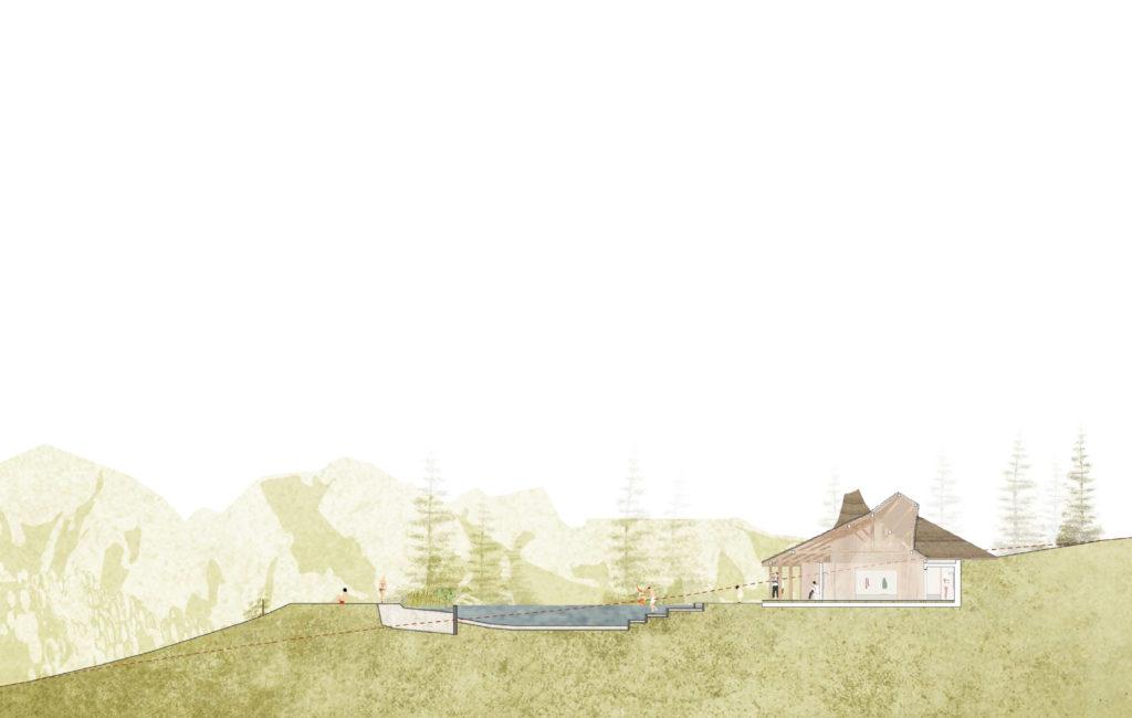 Col des Mosses, Baignade naturelle publique